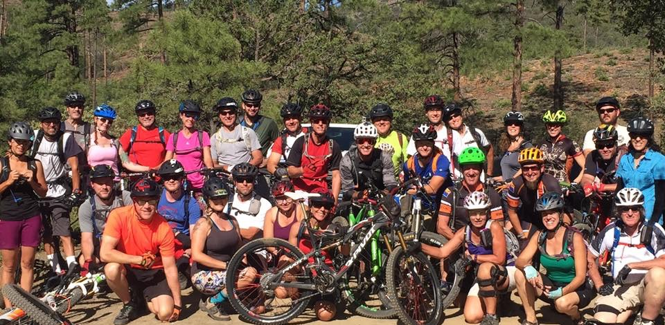 Group Ride at the Prescott Mountain Bike Festival
